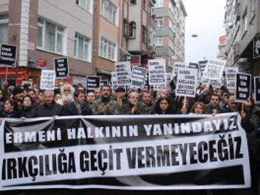 Нападения на пожилых армянок вызвало акцию протеста в Стамбуле
